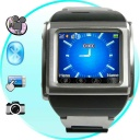 Watch-Phone - Fortaleza, our new quad-band stainless steel weatherproof mobile phone watch with 1 GB of memory, a built-in photo and video camera, media player, all with an easy to use touch screen display.