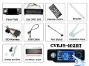 Package Content - 1-DIN TV Tuner + Bluetooth Car DVD Player - Plays DivX + MP4. Factory direct wholesale priced single DIN Car DVD Player with Bluetooth function, built in TV Tuner, and compatible with multiple formats including MP4 VCD and DivX.
