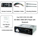 Package Content - Car DVD VCD CD USB SD MMC WMA MP3 Player with Bluetooth. This one device has everything you need to keep you and your passengers entertained for short drives across town or cross-country trips