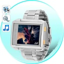 MP4 Player  - This waterproof MP4 watch does it all! The MP4 Player Watch with 4GB internal memory plays incredible sounding video and audio, is a digital photo frame with background music play, handles ebooks and even has a voice recorder for memos!