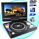 DVD Player-TV - Portable DVD and Multimedia Player with 7 Inch Widescreen (16:9) LCD having compatibility with all of today's popular disc (DVD, CD, VCD, DIVX, CD-R, DVD-R) and flash memory formats (SD cards, USB) plus a center mounted swivel screen LCD for optimal viewing while traveling.