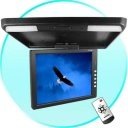 Car Monitor - Roof mounted TFT LCD monitor with a large 13.3 inch display. This is a great video accessory for keeping the kids entertained, company vehicles that often escort guests, regular carpools, or just personal use. This ceiling mount LCD screen features 2 AV IN for connecting different video devices to the screen, including DVD players, video game player, rearview camera, etc. It has an IR audio transmitter, meaning it broadcast its audio signal to an IR