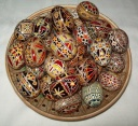 Egg - 0005 - Decorated eggs with traditional geometric motifs and colours that are typical of zone.  Size: hen egg.  Price: 2 €