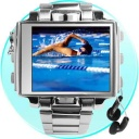 MP4 Player 8GB - Ultimate Style MP4 Watch with a massive 8GB of internal flash memory as well as a full color 1.8 Inch Screen and made completely from steel for the ultimate in style and coolness.