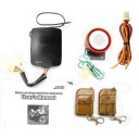Package Content - Motorcycle security alarm and immobilizer system with keychain remote control.