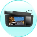 Car Monitor - 7 Inch Sun Visor TFT LCD Monitor - 360 Degree Swiveling -Black. Can be mounted on either the right of left side of the car - the choice is yours!