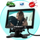 Car Monitor - This high resolution 7 inch LCD monitor is a quick and affordable way to transform your boring ride into a fun and entertaining experience. It features dual video input connections so you can connect your DVD player, digital TV receiver or other video sources, and it's the perfect size for placing on your car's dashboard for use as a rear-view parking monitor.