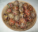 Egg - 0003 - Decorated eggs with traditional geometric motifs and colours that are typical of zone.  Size: hen egg.  Price: 2 €